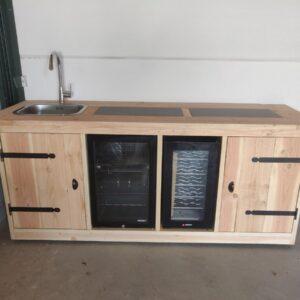 Buitenkeuken - Alaska- Koelkast 68 liter - Wijnkoeling 50 liter - Douglas hout (8785255992677)